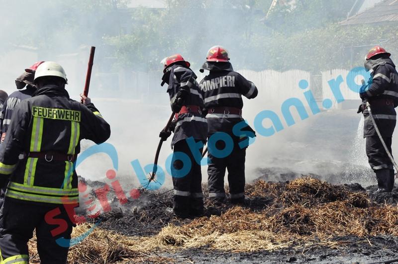 18 tone de furaje distruse într-un incendiu, la Vorniceni. Focul a fost pus intenționat!