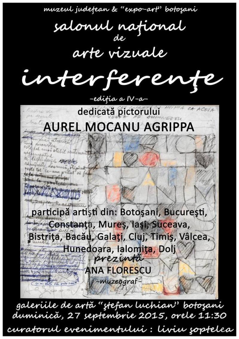 """27 septembrie – 20 octombrie, Botoşani: Salonul Naţional de Arte Vizuale """"Interferenţe"""", ediţia a IV-a"""