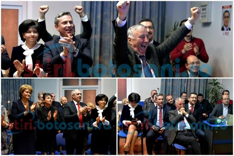 Explozie de bucurie în rândul social-democraților botoșăneni, după închiderea urnelor! - FOTO, VIDEO