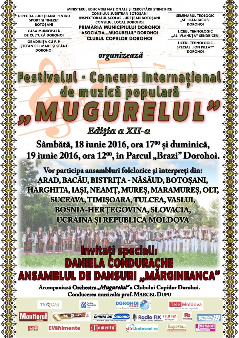"""Festivalul Internaţional de Folclor """"Mugurelul"""" Dorohoi a ajuns la cea de-a XII-a ediţie!"""