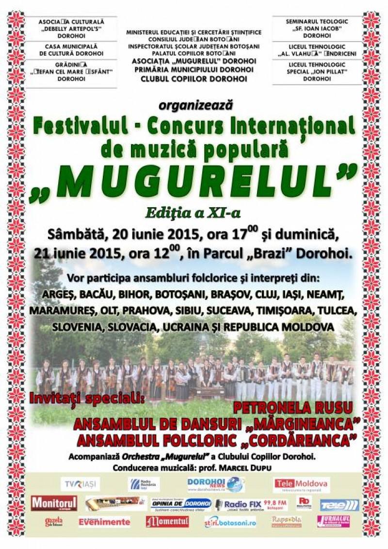 """Festivalul Internaţional de Folclor """"Mugurelul"""" Dorohoi, ediţia a XI-a"""