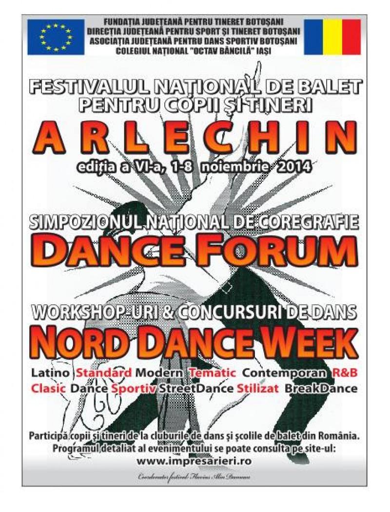 """Festivalul Naţional de Balet pentru copii şi tineri """"Arlechin"""""""