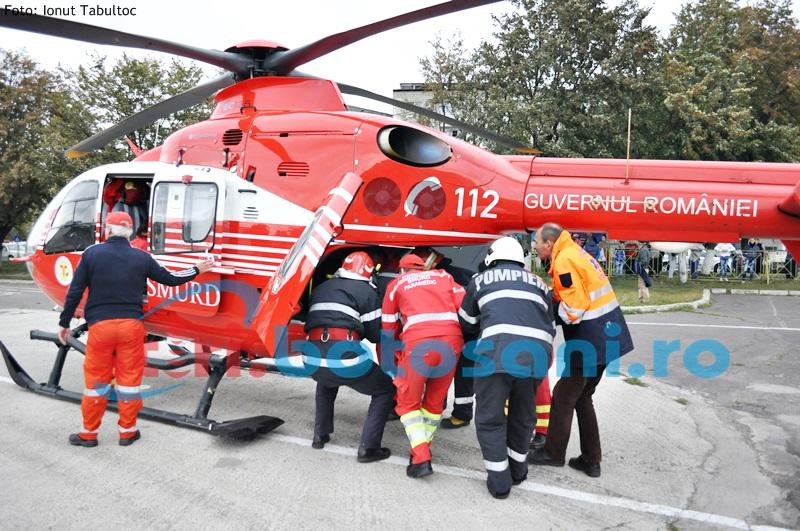 Încă un botoșănean salvat de elicopterul SMURD - FOTO, VIDEO