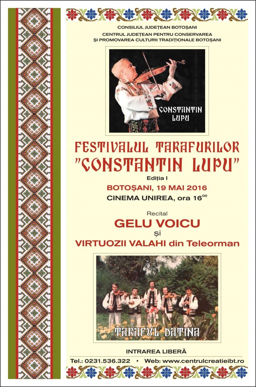"""JOI: Prima ediţe a Festivalului Tarafurilor """"Constantin Lupu"""""""