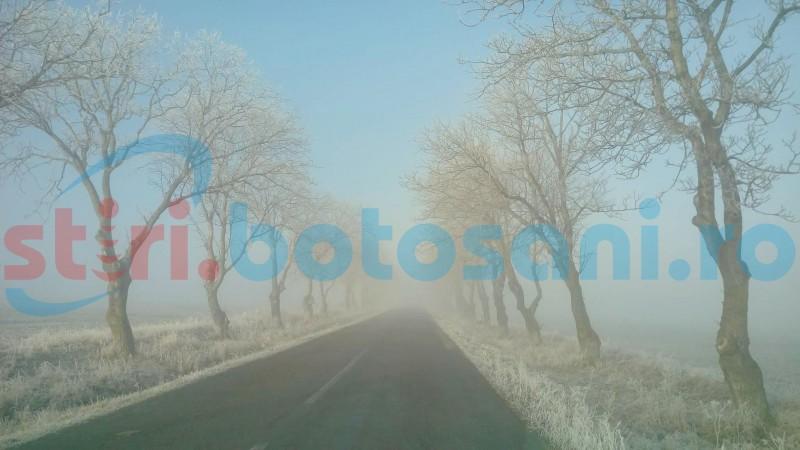 O nouă zi cu ceaţă, în judeţul Botoşani!