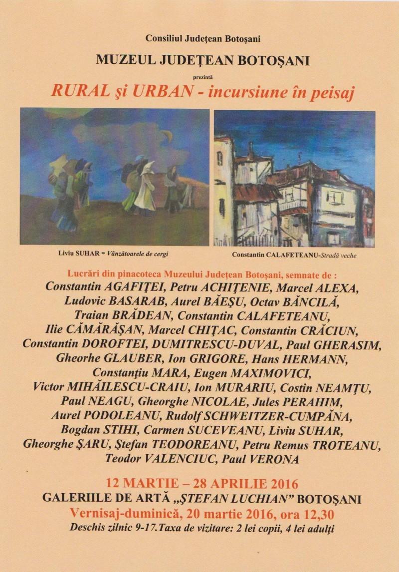 """""""Rural şi urban – incursiune în peisaj"""", la Galeriile """"Ştefan Luchian""""!"""