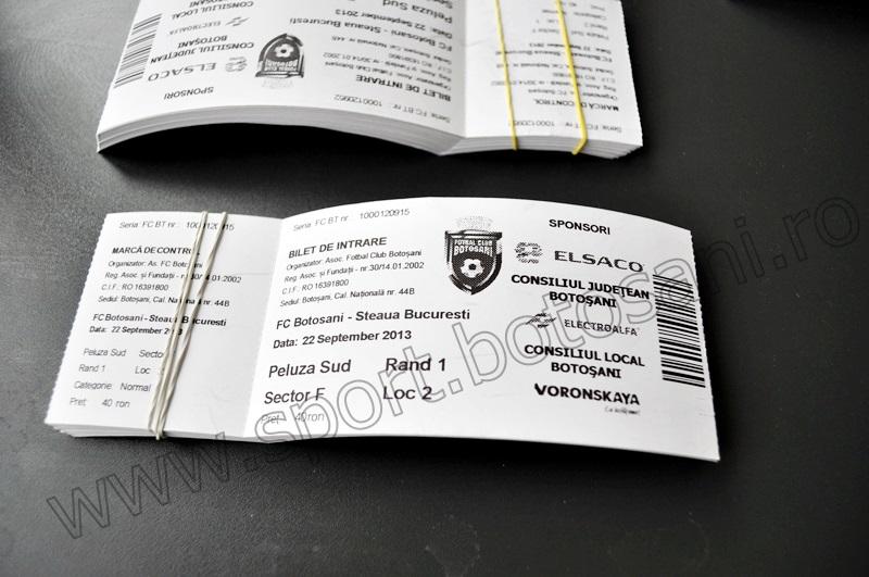 S-au pus în vânzare biletele pentru meciul FC Botoșani - Steaua! FOTO