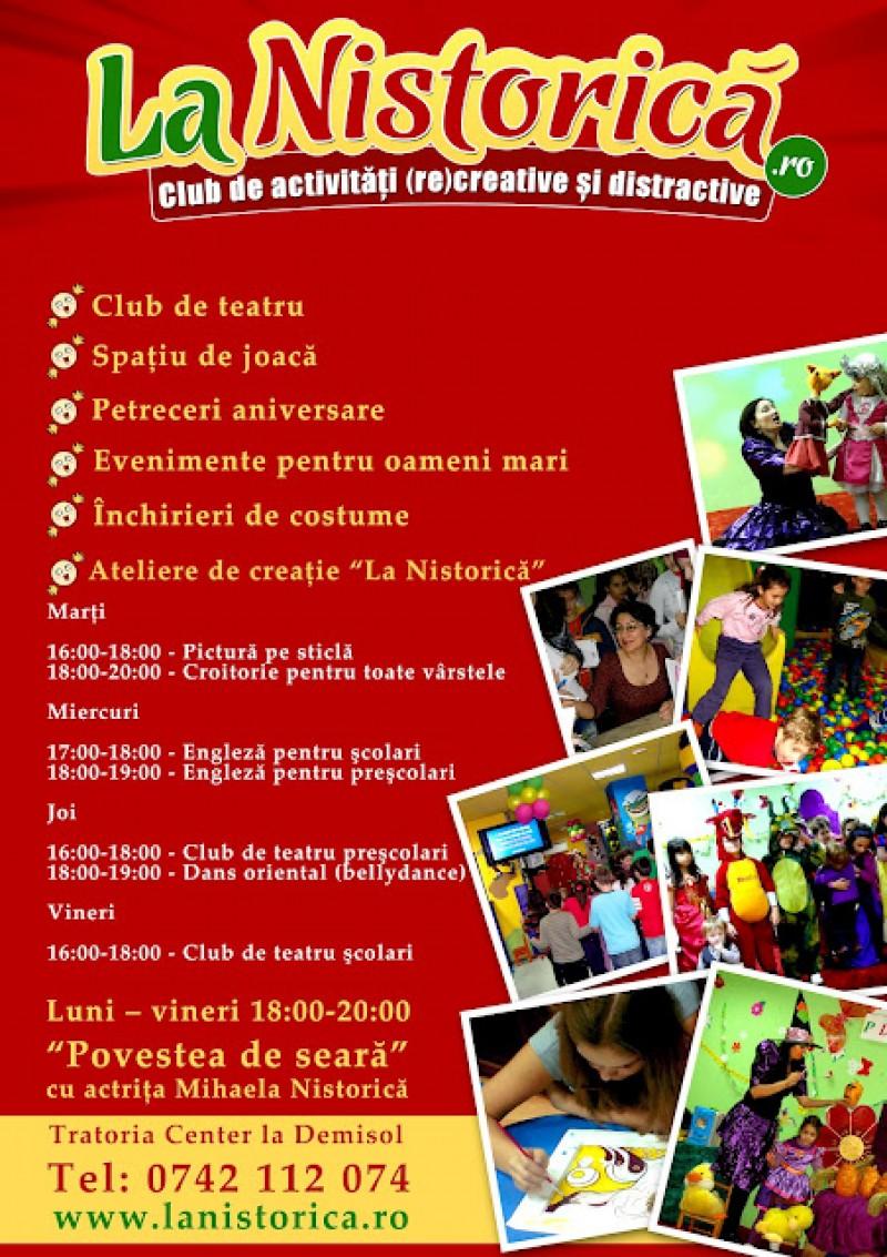 """1 an """"La Nistorică""""! Copiii fideli clubului sunt invitaţi la petrecere!"""