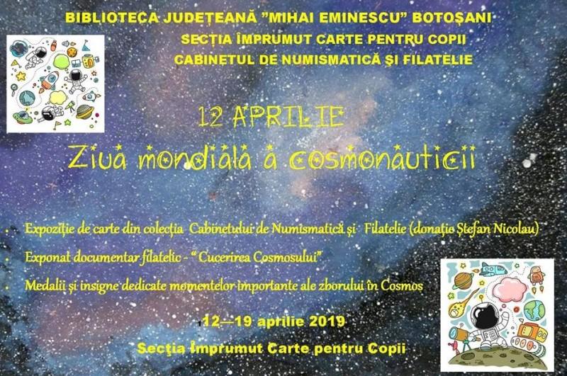 12 Aprilie - Ziua mondială a cosmonauticii, marcată la Biblioteca Județeană