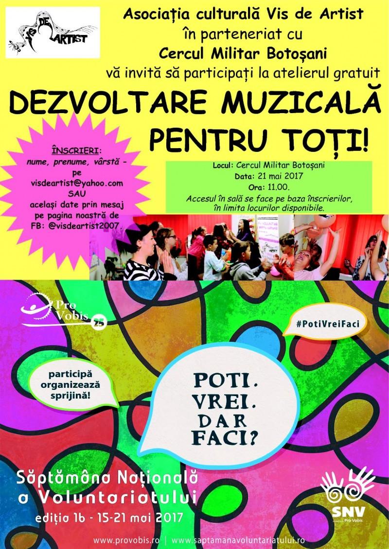 21 mai, la Botoșani: Dezvoltare muzicală pentru toți, cu Cătălina Constantinovici!