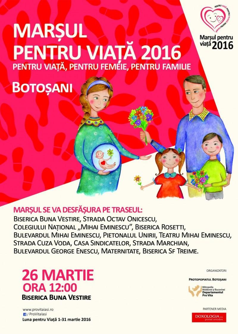 26 martie 2016: Marșul pentru viață la Botoşani