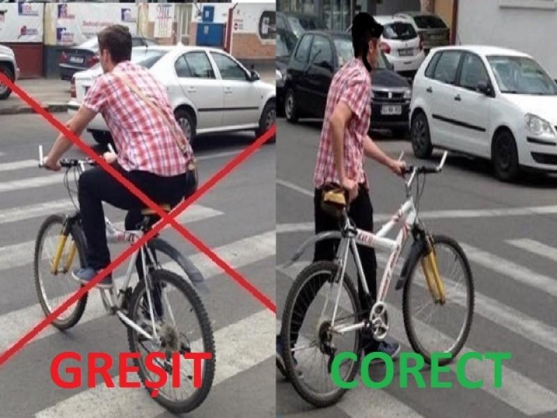 30 de bicicliști amendați într-o singură zi în județul Botoșani. Recomandările polițiștilor!