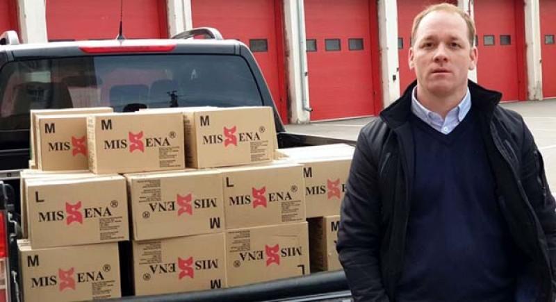 35000 mănuși de unică folosință și 2000 de măști de protecție au fost donate astăzi spitalelor din Botoșani