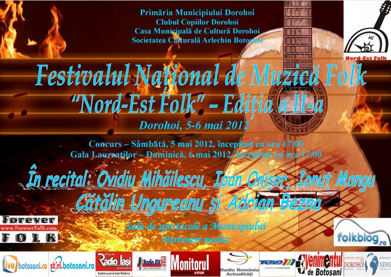 5-6 mai, Dorohoi: Festivalul Nord-Est Folk 2012
