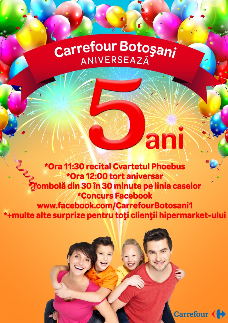 5 ani memorabili la Botosani Shopping Center si Carrefour
