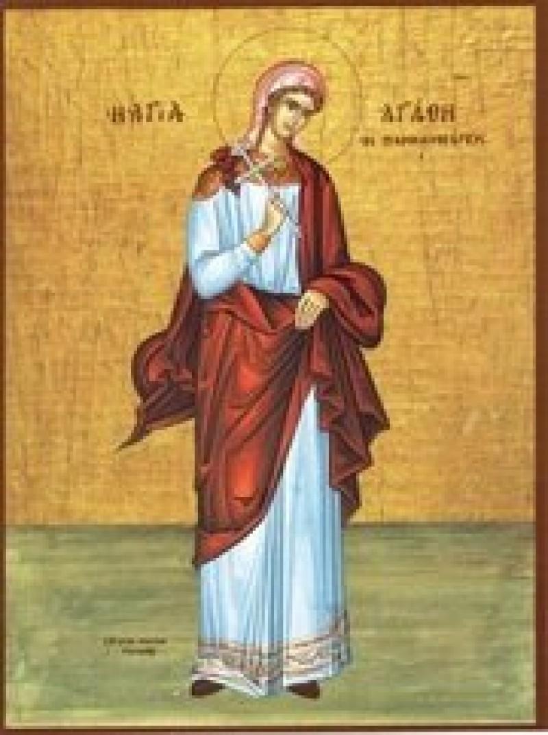 5 februarie: Sfanta Mucenita Agata, ocrotitoarea femeilor bolnave de cancer la san