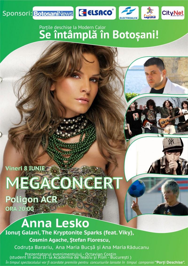 8 iunie: Megaconcert Ana Lesko la Botoșani, in direct pe Live Botosani!