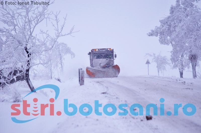 A fost desemnată firma care va deszăpezi drumurile naționale din județul Botoșani