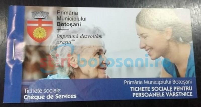 A început distribuţia tichetelor sociale către pensionarii botoşăneni