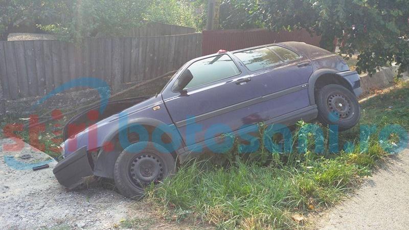 A intrat cu mașina într-un șanț, dar nu și-a amintit cine a condus! Ce au descoperit polițiștii!