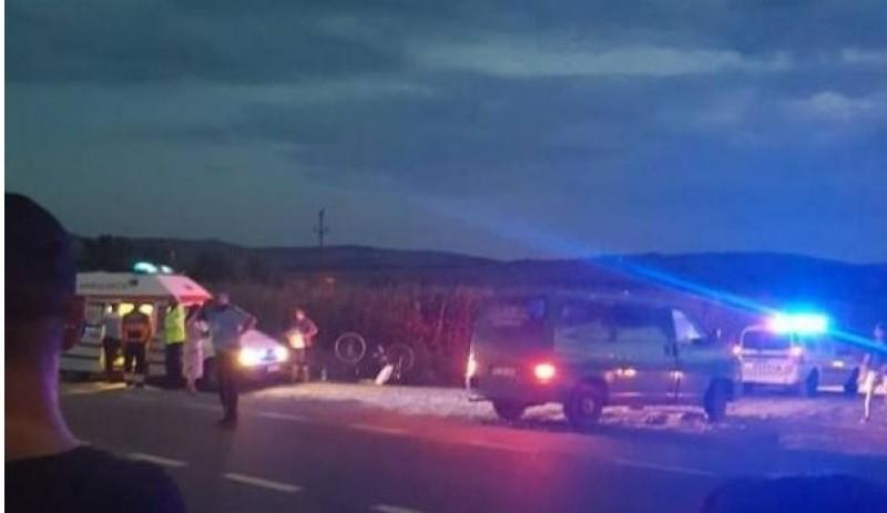 Accident! Biciclist acroșat de un autoturism pe drumul Dorohoi-Botoșani-FOTO