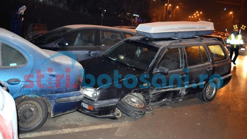 Accident cu patru masini avariate pe Calea Nationala! Soferul vinovat a fugit! FOTO