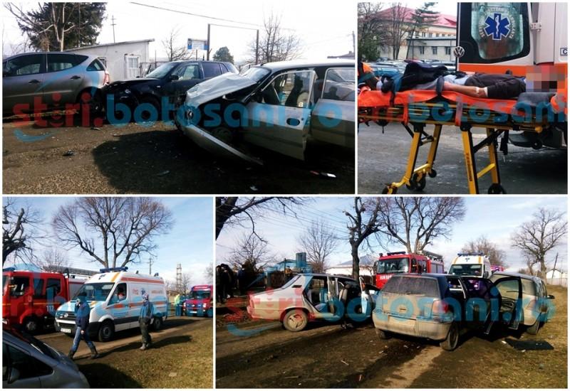 ACCIDENT cu trei masini si doua victime, la Sulita! FOTO