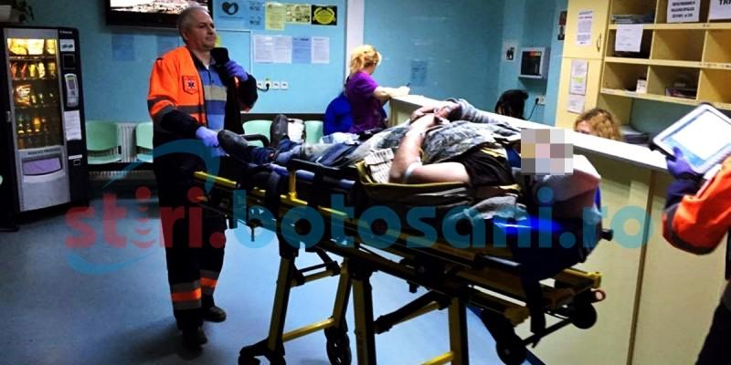 ACCIDENT GRAV la Stefanesti! Doua masini s-au izbit frontal, dupa ce una dintre ele a acrosat o caruta! FOTO