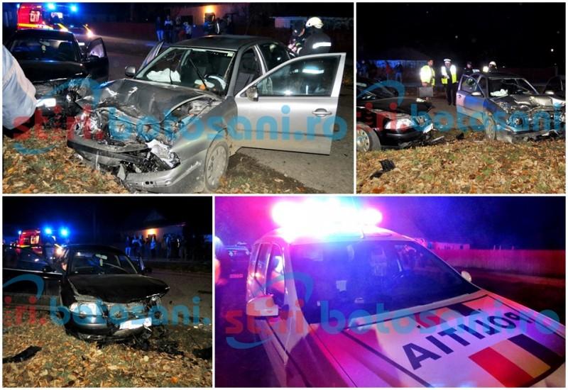 ACCIDENT GRAV la Sulița! Un fost primar și încă trei persoane au ajuns la spital, după ce două mașini s-au ciocnit frontal! GALERIE FOTO