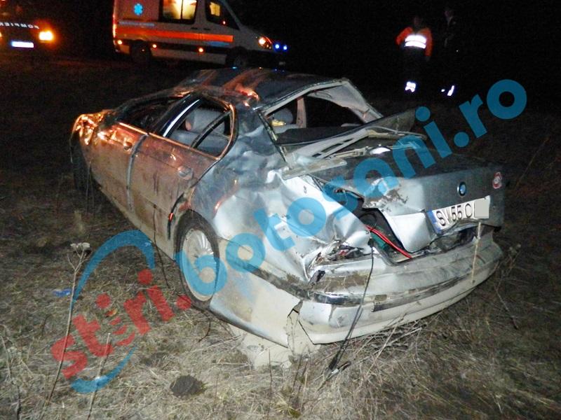 """Accident grav pe """"drumul morţii""""! Trei tineri s-au dat peste cap cu un BMW! FOTO"""