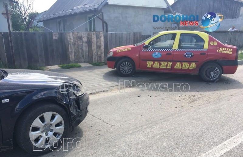Accident în Dorohoi! O femeie a fost rănită în impactul dintre două autoturisme!