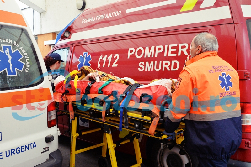 Accident în gospodărie, cauzat de lanţul unei drujbe