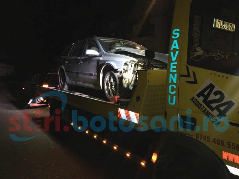 Accident în toiul nopţii! Două persoane rănite, şoferul nevinovat beat şi cu maşina împrumutată! FOTO