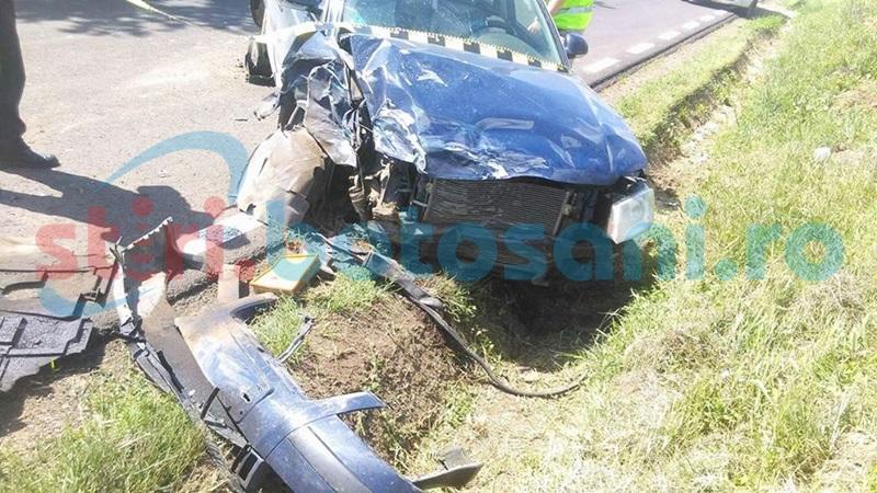 Accident la Brăești după manevre interzise pe linia continuă! O femeie a fost rănită!