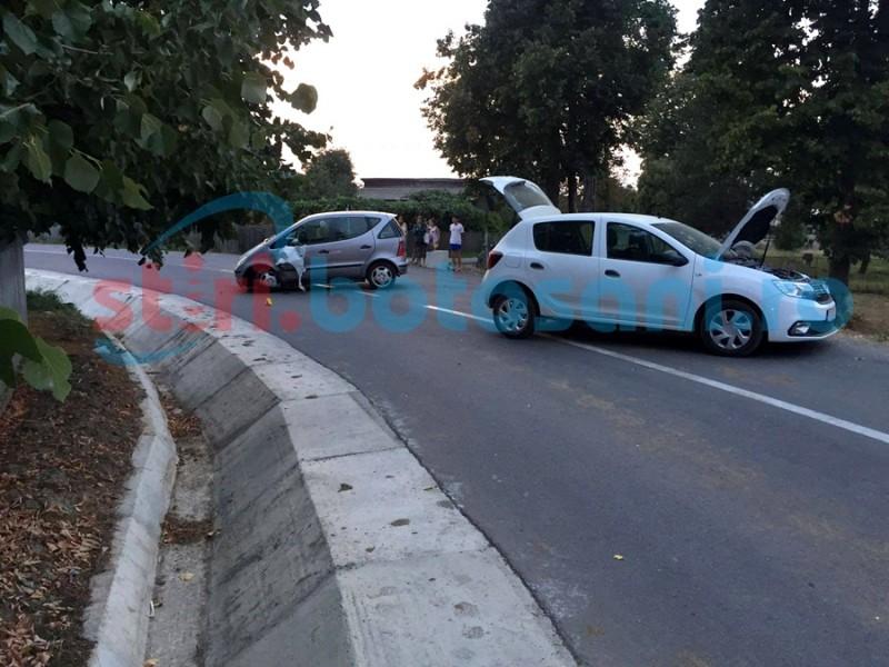 Accident la Curteşti provocat de un şofer beat! O femeie a fost rănită! FOTO