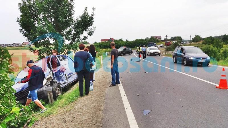 Accident la Baisa, după ce un șofer a adormit la volan! FOTO