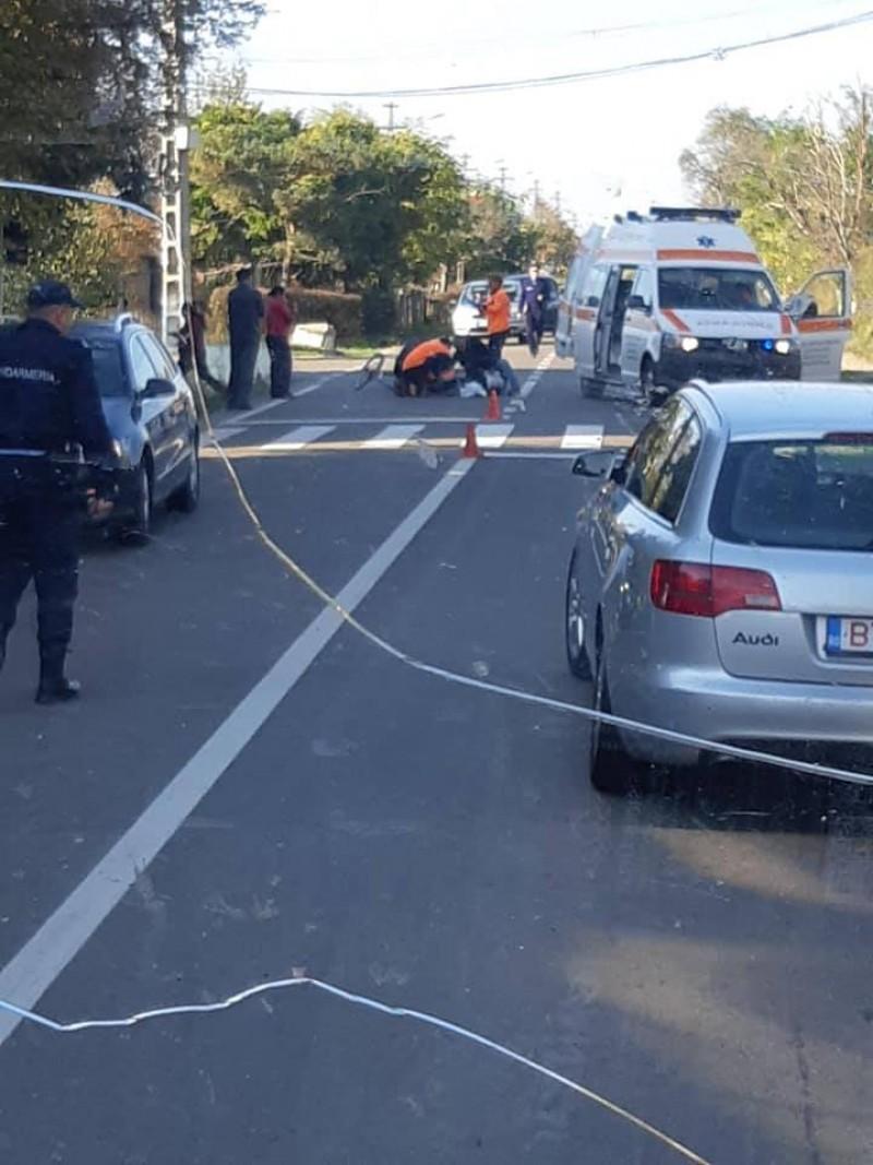 Accident la Ungureni: Biciclist rănit grav!
