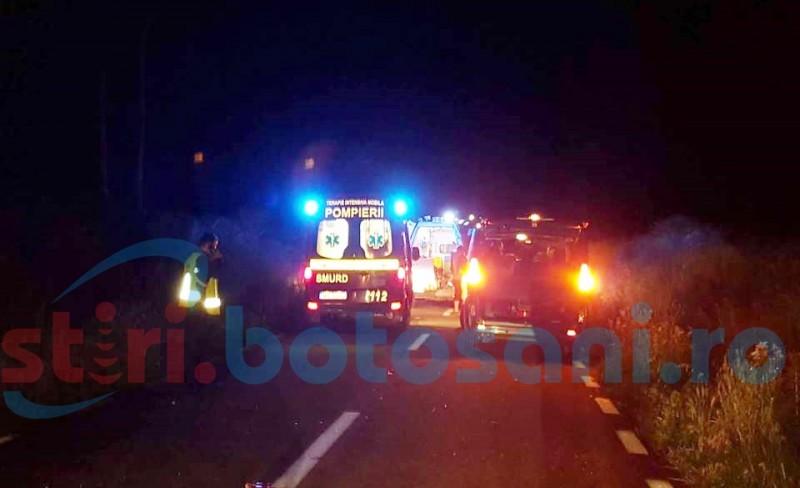 Accident mortal pe un drum din judeţul Botoşani! Un tânăr şi-a pierdut viaţa după ce a zburat de pe o motocicletă!