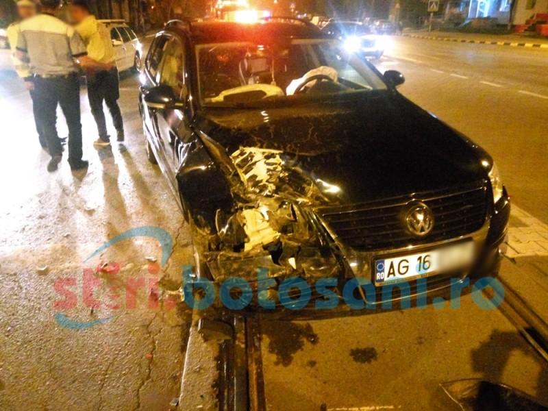 Trei mașini avariate într-un accident, pe Calea Națională! FOTO