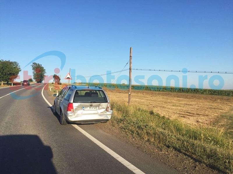 Accident pe drumul Botoşani-Suceava! Femeie rănită din vina unui şofer neatent! FOTO