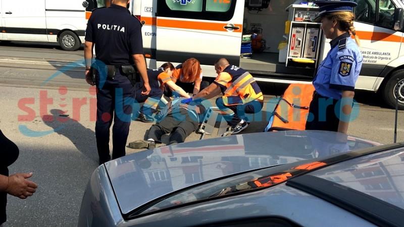 ACCIDENT pe trecerea de pietoni! O persoană a ajuns la spital! FOTO