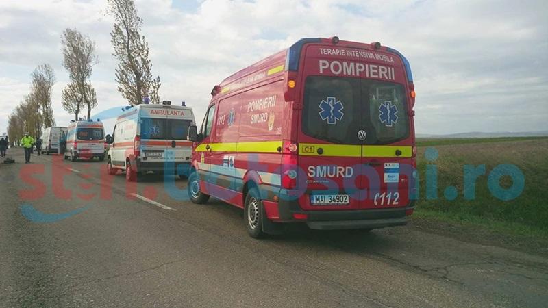 Accident pe un drum național din Botoșani, cu două victime!