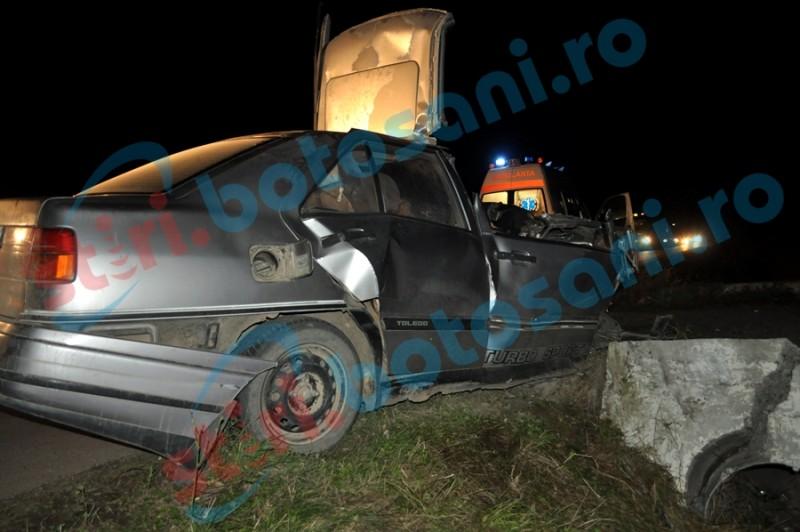 Mașini distruse în seara de Crăciun de un șofer cu o alcoolemie uriașă!