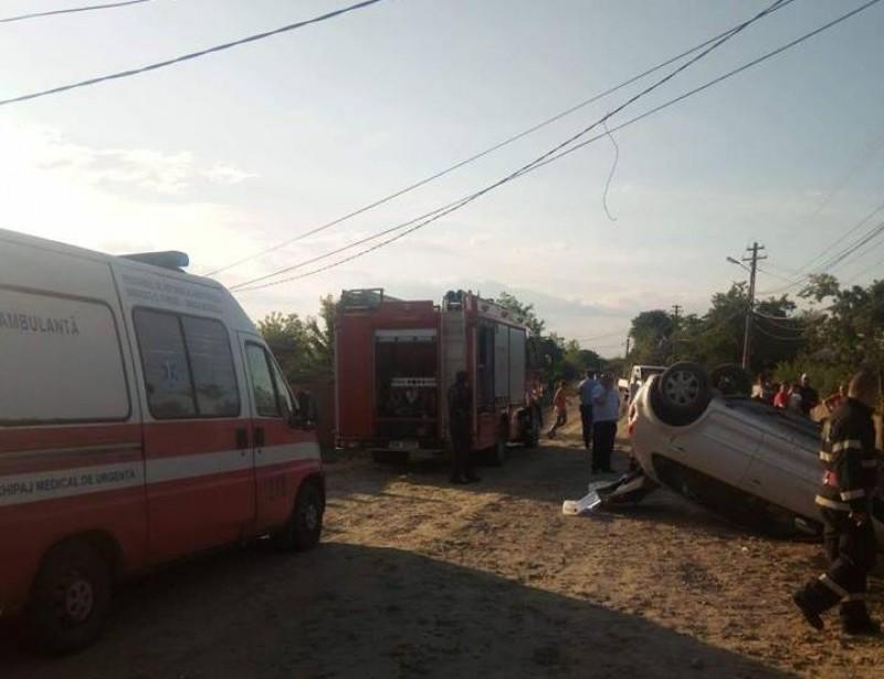 Accident rutier produs de un șofer beat! FOTO