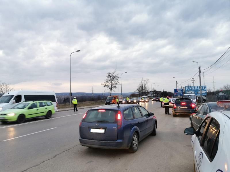 Acțiune a polițiștilor pentru diminuarea indisciplinei în trafic