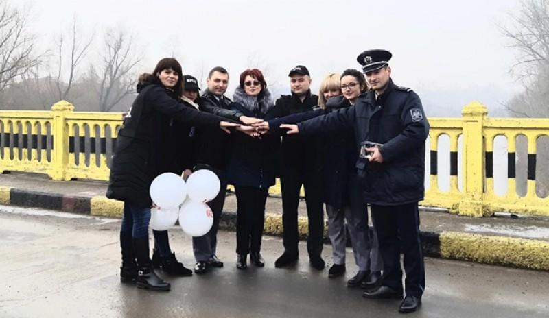 """Acțiune de amploare a polițiștilor de frontieră la granița de est a României: """"Tu poţi face lumină!"""""""