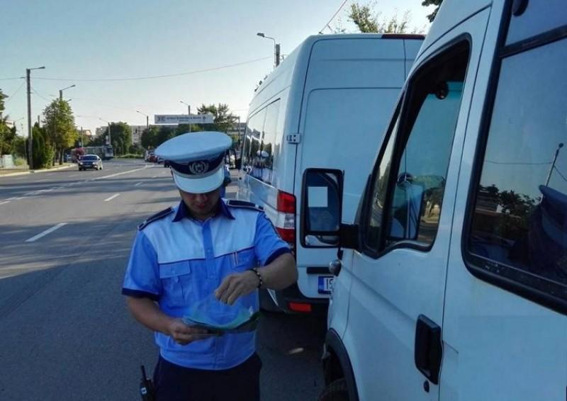 Acțiunea Truck&Bus la Botoșani: Sute de transportatori de persoane și mărfuri au fost trași pe dreapta!