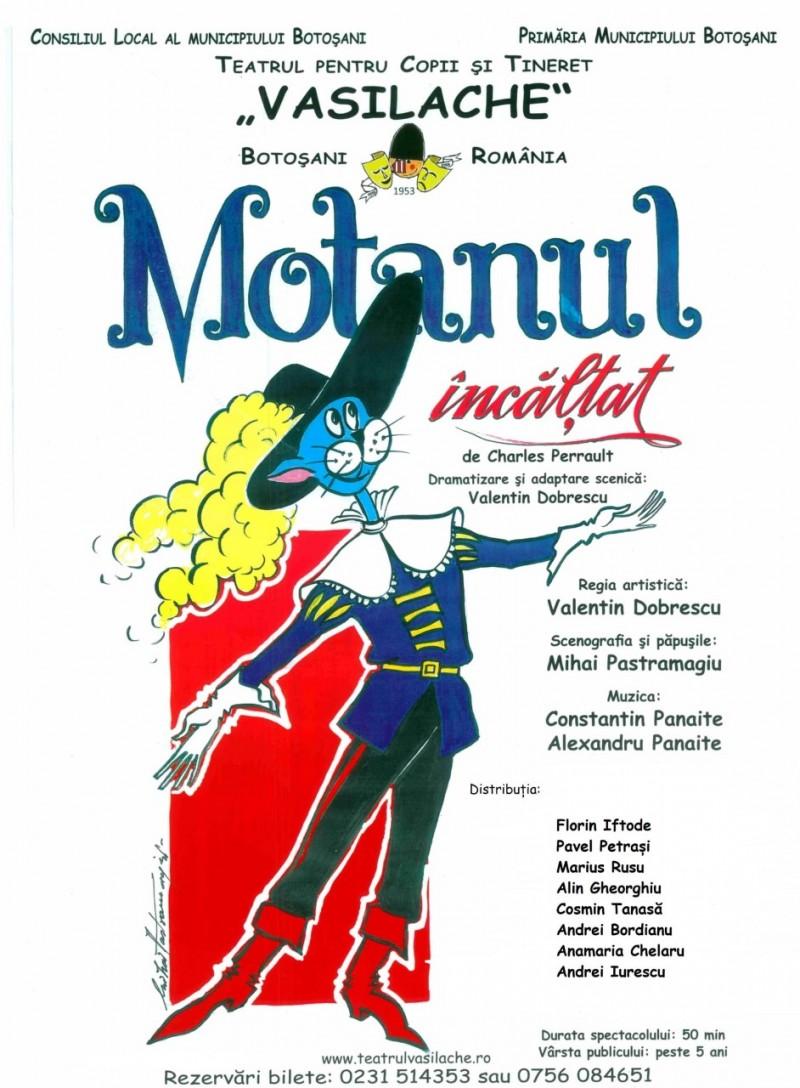 """Actorii Teatrul pentru Copii și Tineret """"Vasilache"""" prezintă spectacolul """"Motanul încălțat"""""""