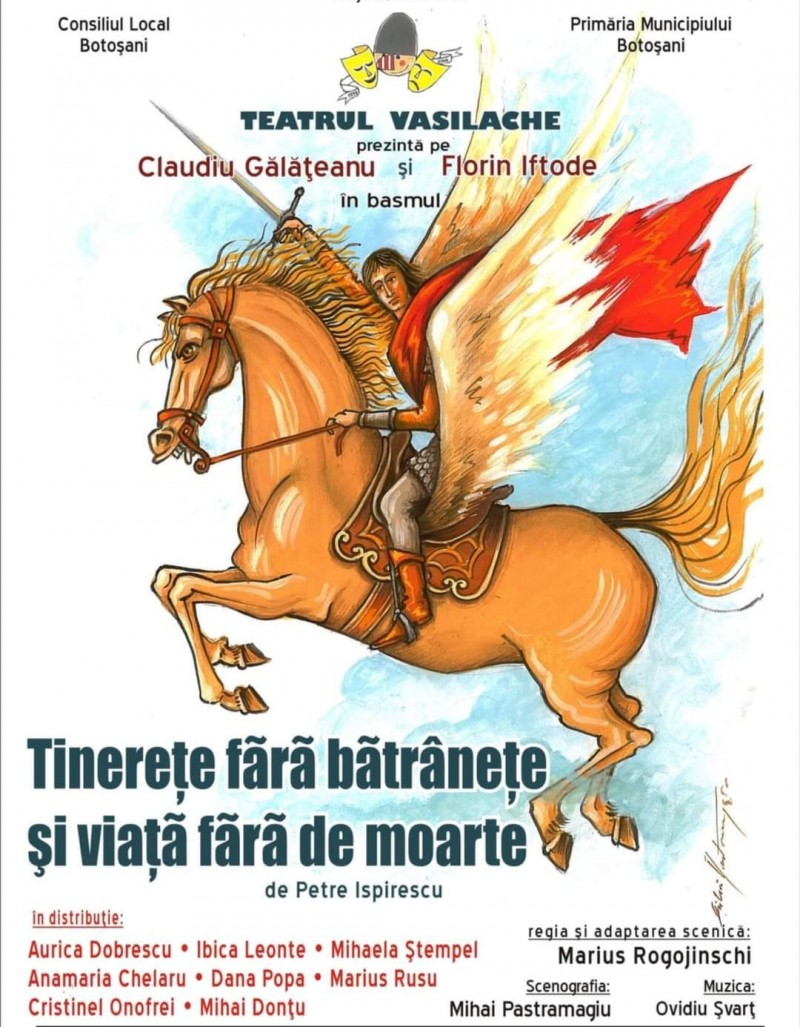 """Actorii Teatrului """"Vasilache"""" invită publicul la vizionarea unui nou spectacol online"""