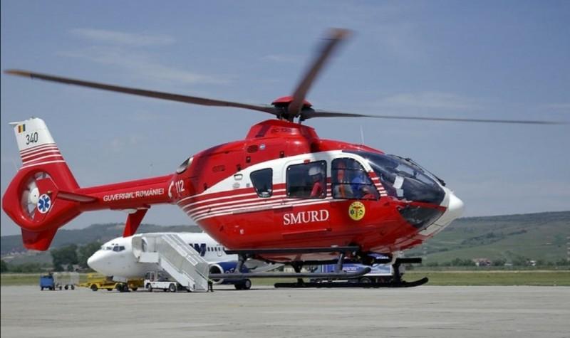 ACUM: Băiat de 6 ani cu fractură la coloană, transportat cu elicopterul